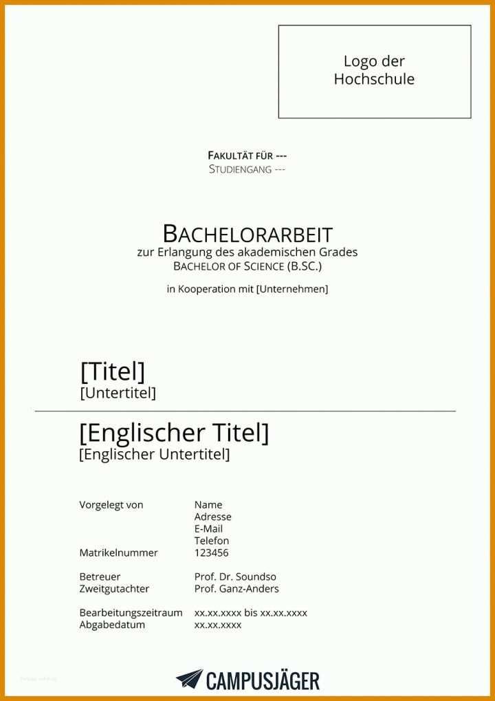 Deckblatt dissertation vorlage