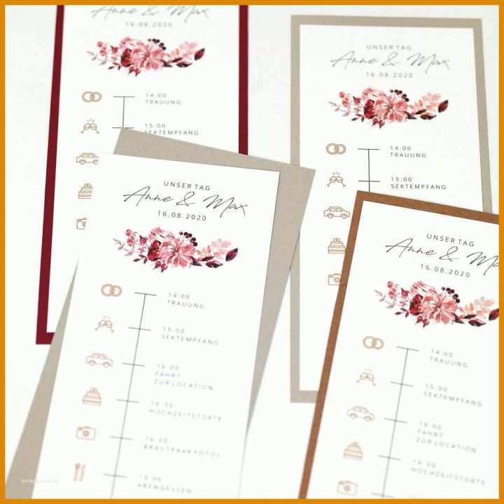 Ablaufplan Hochzeit Vorlage
