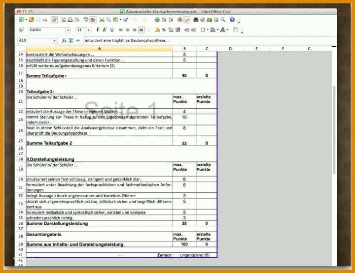 Bachelor Note Berechnen Online