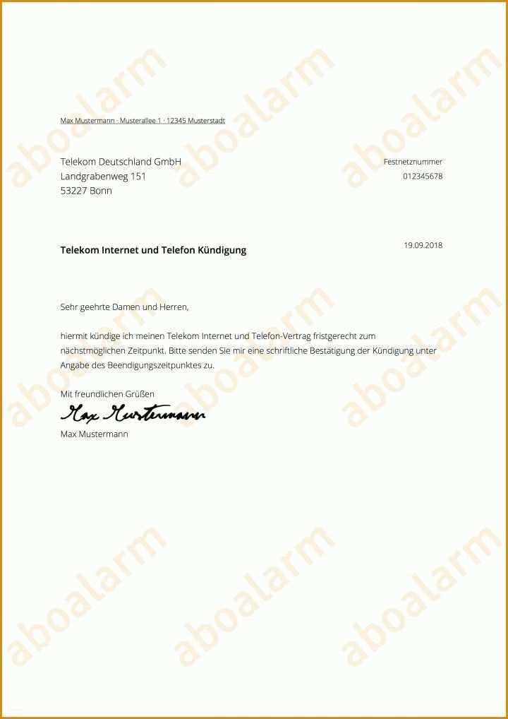 Erschwinglich Telekom Kündigungsschreiben Vorlage 2480x3507
