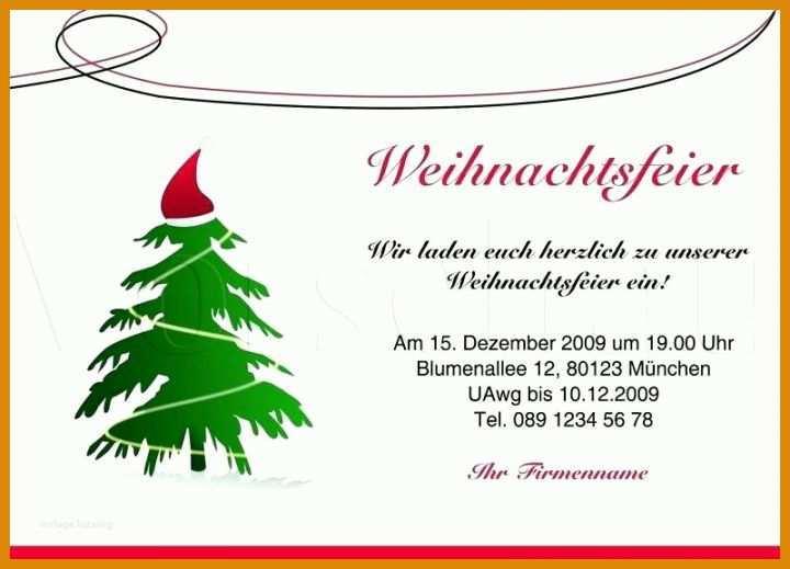Einladung Weihnachtsfeier Verein.11 Fabelhaft Einladung Weihnachtsfeier Vorlage Word