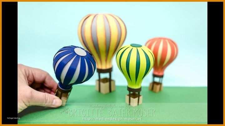 11 Beeindruckend Heißluftballon Basteln Vorlage Papier Sie
