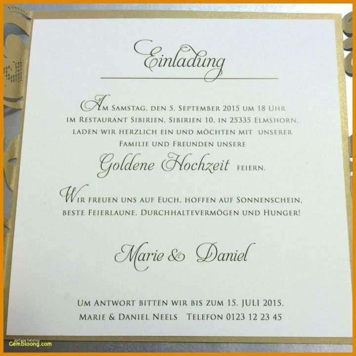 Überraschend Einladung Goldene Hochzeit Vorlage Word Für
