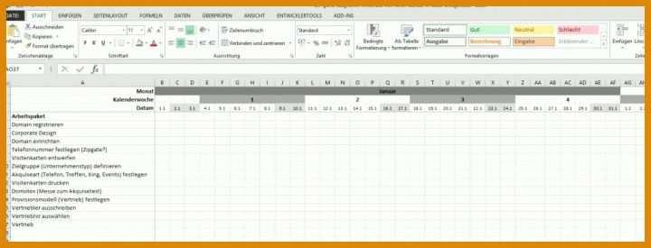 Gantt Diagramm Excel Vorlage 2018  11 M U00f6glichkeiten