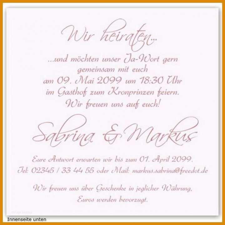 Hochzeitseinladung Vorlage 25 Traumhaft Schone 14