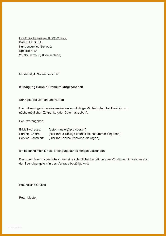 11 Hervorragend Parship Kündigen Vorlage Pdf Im Jahr 2019