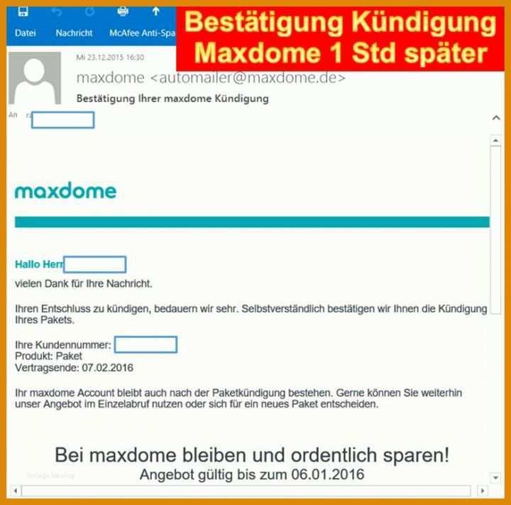 Maxdome Probemonat Kündigen
