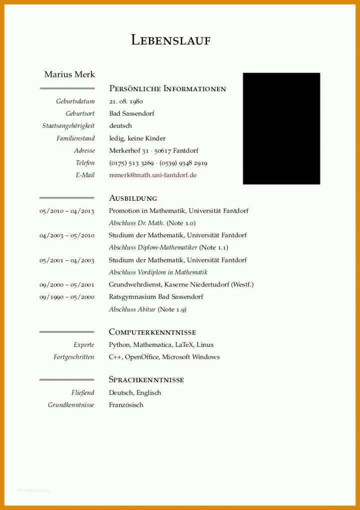 Lebenslauf Vorlage Nach Der Ausbildung: 12 Möglichkeiten ...